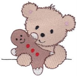 Teddy Bear & Gingerbread Man embroidery design