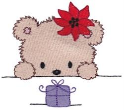 Teddy Bear & Poinsettia embroidery design