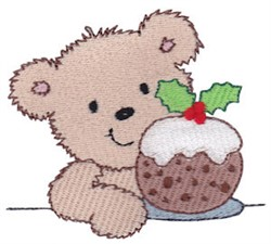 Teddy Bear & Cookie embroidery design