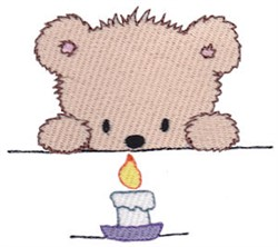 Teddy Bear & Candle embroidery design