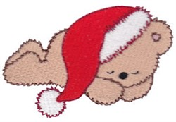 Teddy Bear & Santa Hat embroidery design