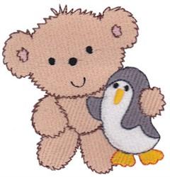 Teddy Bear & Penguin embroidery design