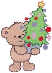 Teddy Bear & Christmas Tree embroidery design