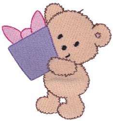 Teddy Bear & Present embroidery design