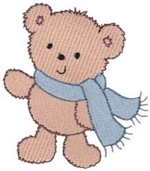 Teddy Bear & Scarf embroidery design