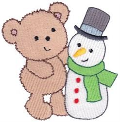 Teddy Bear & Snowman embroidery design