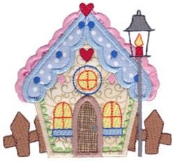 Christmas Village Applique House embroidery design