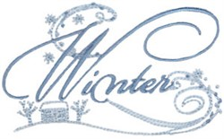 Winter Swirls embroidery design