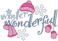 Winter Wonderfland embroidery design