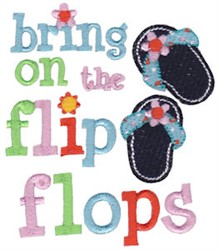 Summer Flip Flops embroidery design
