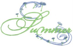 Summer Swirls embroidery design