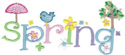 Spring Sentiments embroidery design