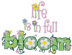 Life In Bloom embroidery design
