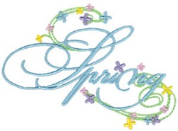 Spring Swirls embroidery design