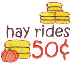 Fall Hay Rides embroidery design