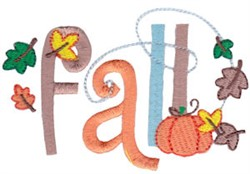 Fall Sentiments embroidery design