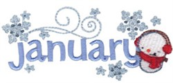 January Snowflakes embroidery design