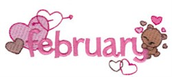 February embroidery design