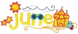 June At The Beach embroidery design