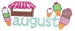 August Ice Cream embroidery design