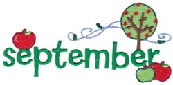 September Apples embroidery design
