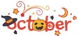 Halloween In October embroidery design