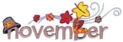 November Leaves embroidery design