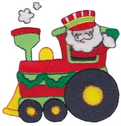 Santa Express embroidery design