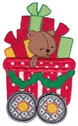 Santa Express Train Applique embroidery design
