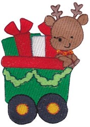 Santa Express Train Car embroidery design