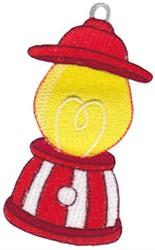 Santa Express Train Lantern embroidery design