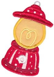 Santa Express Lantern Applique embroidery design