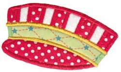 Santa Express Cap Applique embroidery design