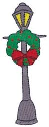 Santa Express Lamp Post embroidery design