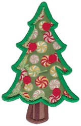 Santa Express Tree Applique embroidery design