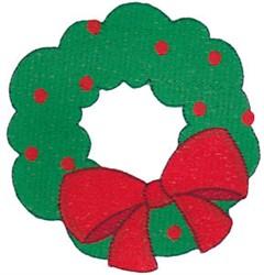 Santa Express Wreath embroidery design
