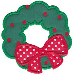 Santa Express Applique Wreath embroidery design