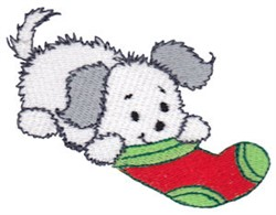 Christmas Puppies embroidery design