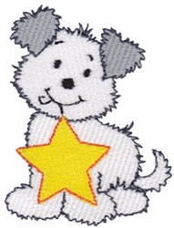 Christmas Puppy & Star embroidery design