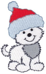 Christmas Pup embroidery design