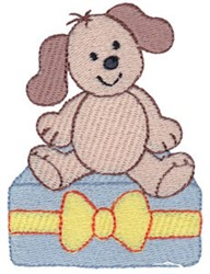Christmas Puppy & Present embroidery design