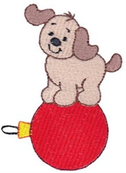 Christmas Puppy & Ornament embroidery design