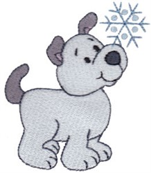 Christmas Puppy & Snowflake embroidery design