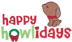 Happy Howlidays embroidery design