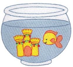 Goldfish Bowl embroidery design