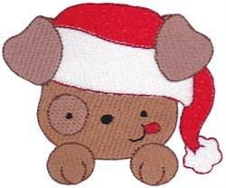 Santa Hat Dog embroidery design