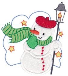 Snow Man Applique embroidery design