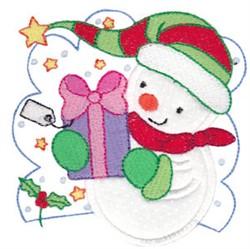 Xmas Snowman Applique embroidery design