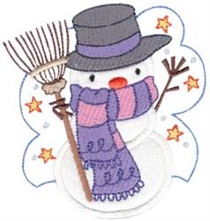 Rake Snowman Applique embroidery design