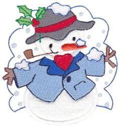 Applique Snowman embroidery design